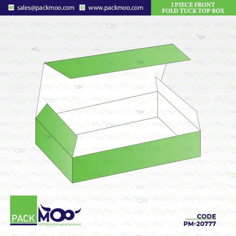 1 Piece Front Fold Tuck Top Box